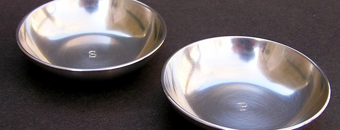 photo of Pewter Salt & Pepper Bowls