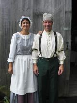 Camille & Jon in eriod costume for the Living History Event