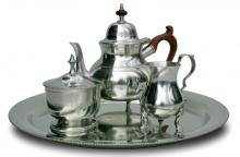 Photo of Queen Anne Pewter Tea Service