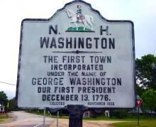 Historic Washington, NH sign