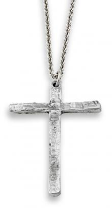 Photo of Plain Pewter Cross & Chain
