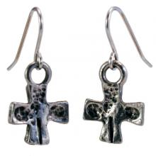Photo of Pewter Cross Earrings
