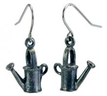 Photo of Pewter Watering Can Earrings