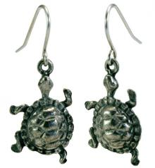 Photo of Pewter Turtle Earrings