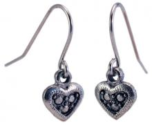 Photo of Small Pewter Heart Earrings