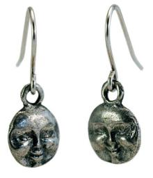Photo of Pewter Moon Earrings