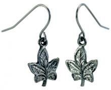 Photo of Pewter Maple Leaf Earrings