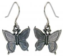 Photo of Pewter Butterfly Earrings
