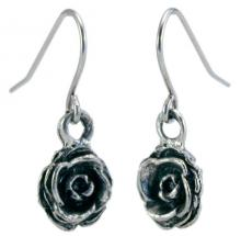 Photo of Pewter Rosebud Earrings