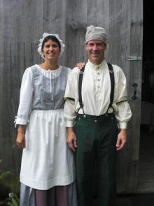 Photo of Jon & Camille Gibson during the 2010 Hillsborough Living History Event