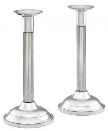 Photo of Fluted Pewter Candlesticks