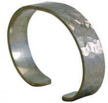Photo of Narrow Dimple Pewter Bracelet