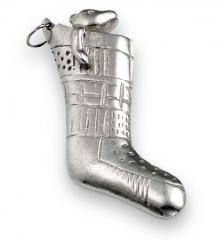 Photo of Pewter Bear in Stocking Ornament
