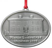 Photo of Franklin Pierce Homestead Christmas 2009 Pewter Ornament