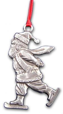 Santa on Skates Ornament