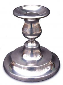 Short Pewter Candlesticks