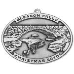 Photo of 2010 Gleason Falls Bridge Christmas Pewter Ornament