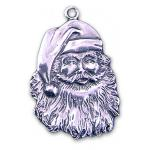Pewter Santa Ornament